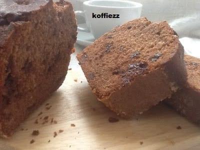 Koffie vruchtencake met heerlijke ingrediënten