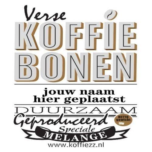 Op de koffie! jouw naam op het etiket