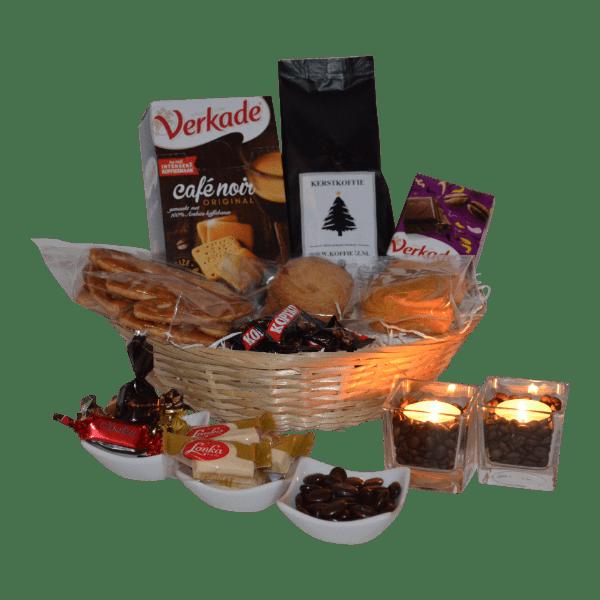 Kerstgeschenken voorzien van kerstkoffie