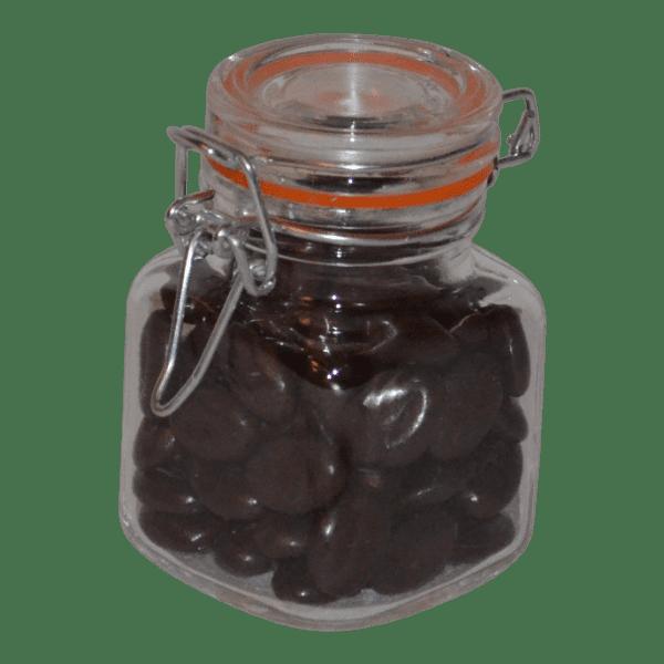 truffels met chocolade en koffie