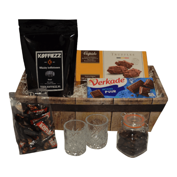 Koffiegeschenk met whisky koffiebonen