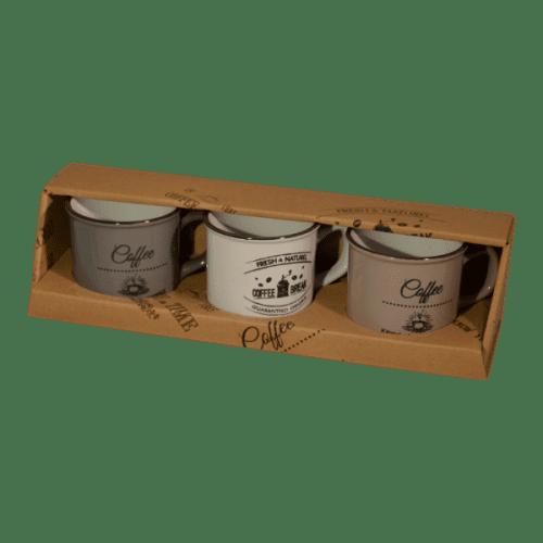 Trio koffiebekertjes
