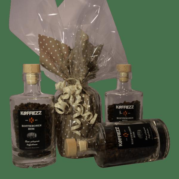 Geschenk met speciaal gebrande koffiebonen