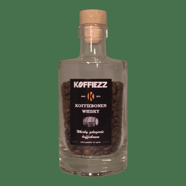 Koffiebonen whisky bottle